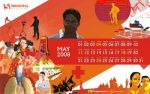 Fondos de escritorio con el calendario de Mayo