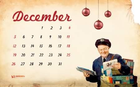 Calendarios diciembre 2010 para Fondos de pantalla