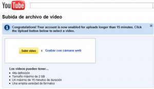 Subir videos a Youtube