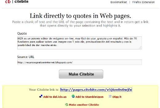 Comparte de manera ingeniosa el texto de una web