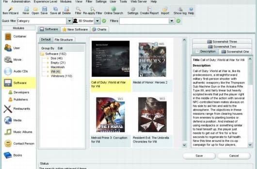 Potente organizador gratuito de software, audio, películas, libros y fotos