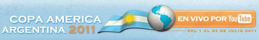 La copa América 2011 en Argentina por Youtube