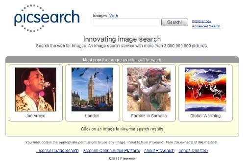 Novedoso buscador de imágenes