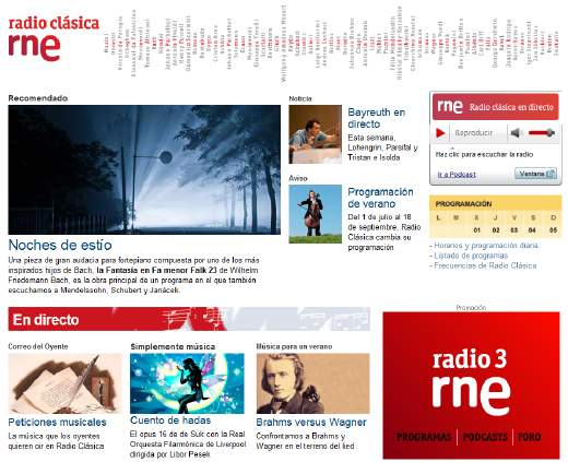 Música clásica por internet