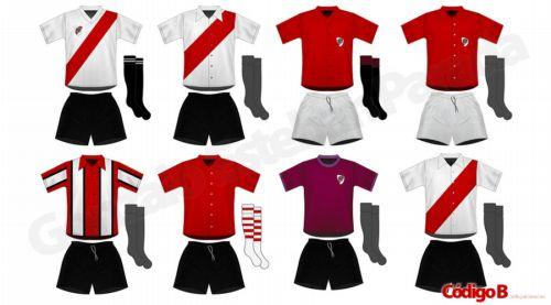 Las camisetas de la historia de River Plate