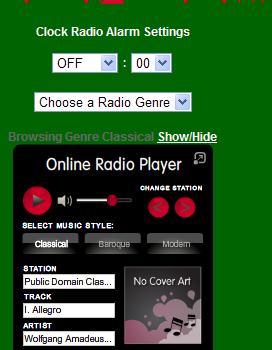 Online Cloc Radio. Radio y reloj despertador en tu computadora
