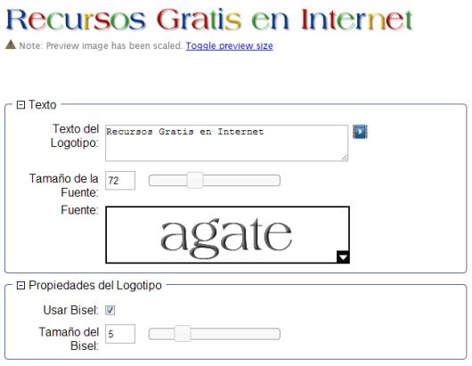 Flamingtext crea atractivos logos de texto on line for Generador de logos