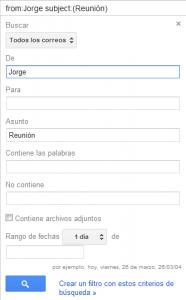 Buscar mensajes en Gmail