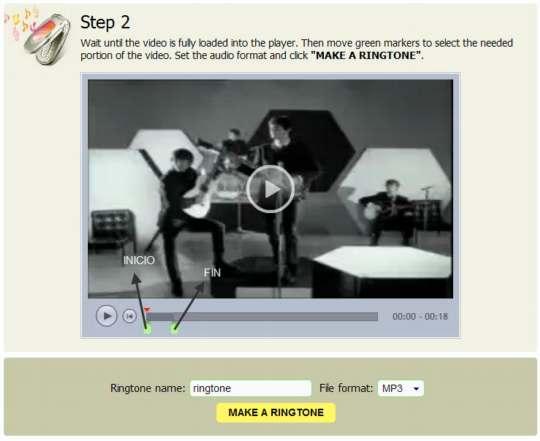 Crea ringtones desde videos de Youtube