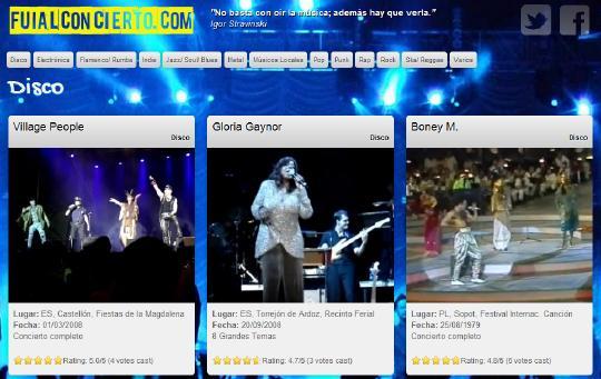 Conciertos gratuitos en video de diferentes estilos musicales