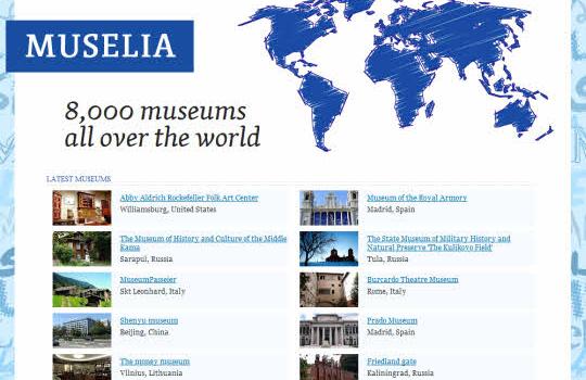 Muselia. Toda la información de más de 8000 museos de todo el mundo