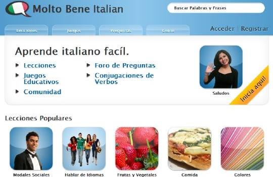 Clases de italiano por Internet gratis
