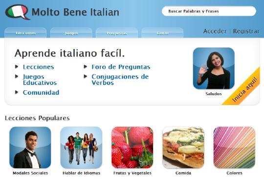 Estudiá italiano por Internet gratis
