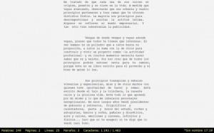 procesador de textos a pantalla completa para escribir sin distracciones