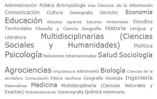 Revistas científicas con estas áreas de información
