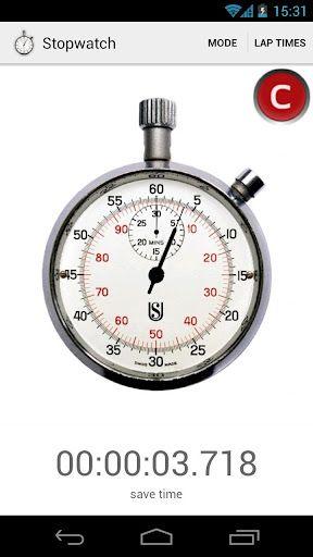 Práctico cronómetro y temporizador para teléfonos con Android