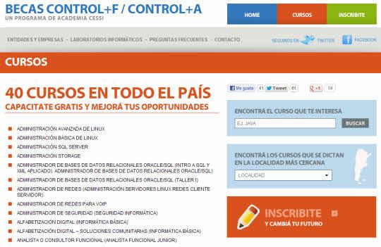 40 cursos gratuitos de Capacitación en Informática en toda Argentina