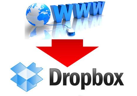 Descargar archivos desde la web a Dropbox en un solo paso