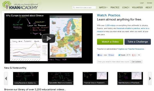 3200 videos en inglés y 550 videos en español en una plataforma de enseñanza gratuita