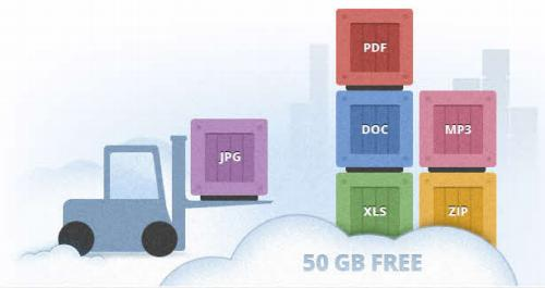 Disco virtual gratuito de 50 Gb