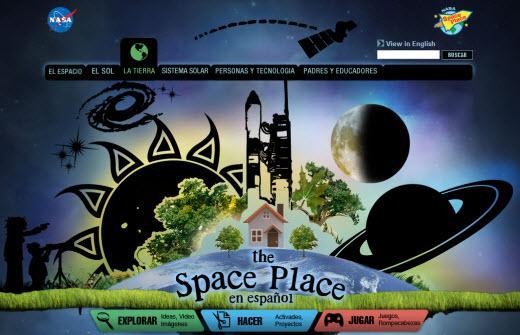 The Space Place. El sitio de la NASA en español para los niños