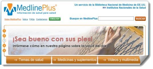 MedlinePlus. Infromación confiable sobre temas de salud