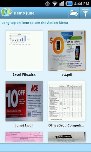 OfficeDrop para Android, iPhone, iPad