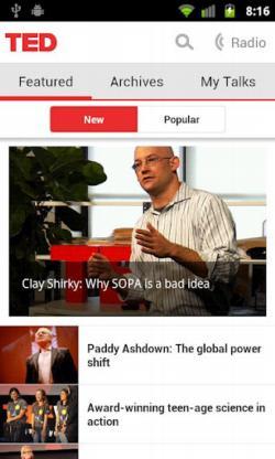 Las ideas innovadoras de TED ahora en tu móvil con Android