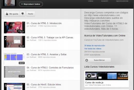 Nuevo curso gratuito de HTML5 en 13 videos en español