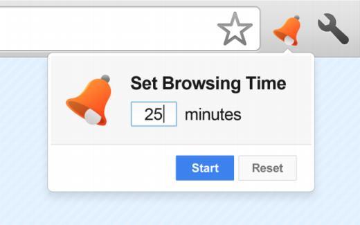 Temporizador para controlar el tiempo de navegación en Chrome