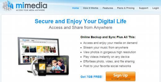 Mimedia. 7 Gb de almacenamiento gratuito en la nube