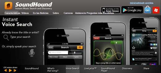SoundHound. Reconocimiento de música cantando, silbando o tarareando