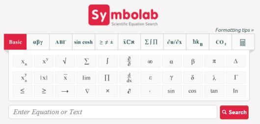 Symolab. Buscador de contenido científico y matemático