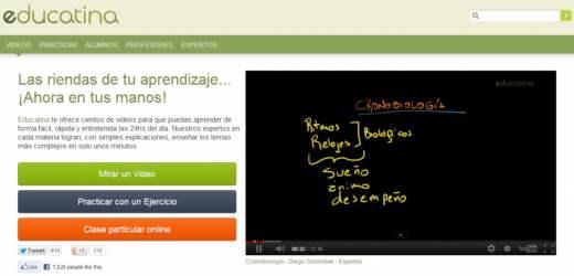 Educatina. Aprendizaje con videos en español