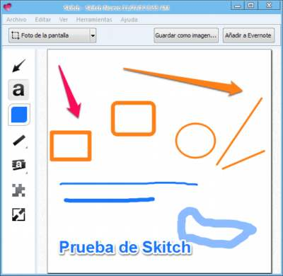 Herramientas de Skitch para Evernote