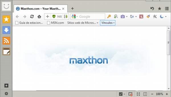 Maxthon. Un navegador que piensa en la nube
