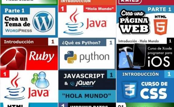 Aprender HTML5, CSS, javascript y jQuery y Ruby, gratis