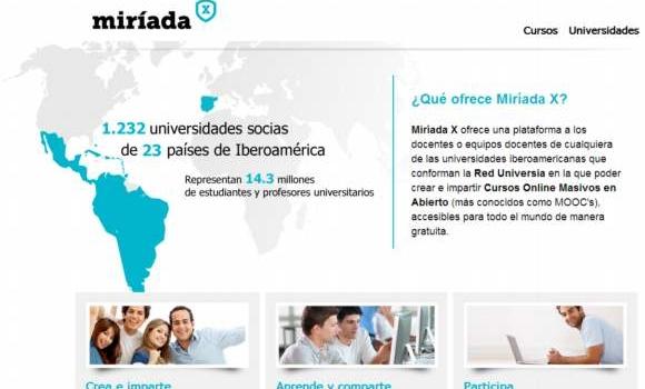 Miriada X. Cursos gratis on-line en español dictados por Universidades Iberoamericanas
