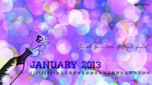 Fondos de pantalla calendario enero 2013