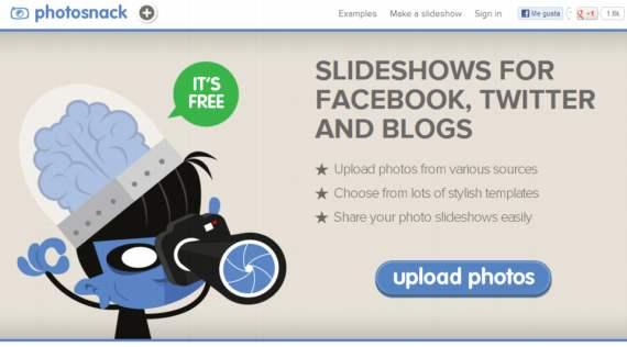 Photosnack. Presentaciones on-line con tus fotos en 3 sencillos pasos