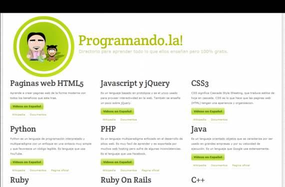 Tutoriales, videos y documentos para aprender a programar, en español