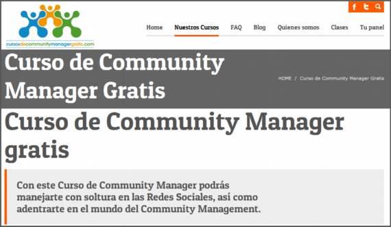 Curso de Community Manager online gratis