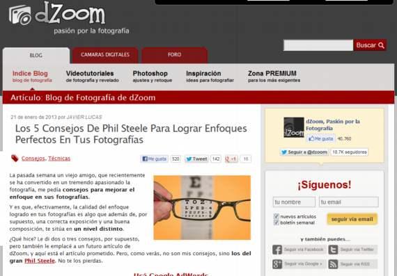dZoom. El blog para los apasionados por la fotografía