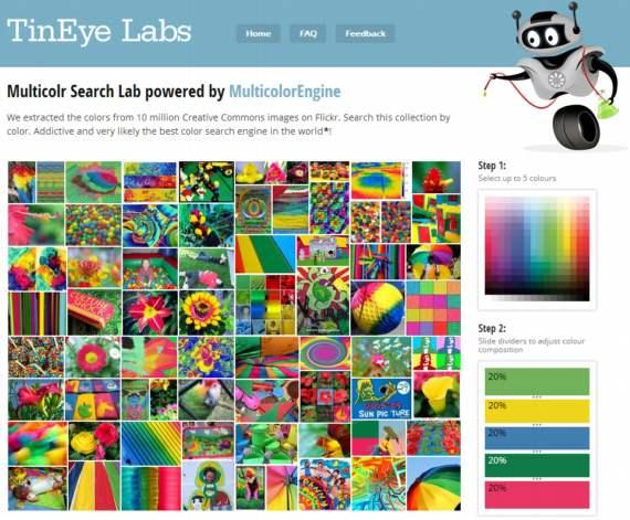 TinEye. Buscador de imágenes por color