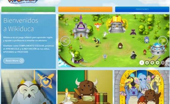 Wikiduca. Juego infantil para aprender inglés gratis
