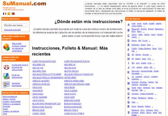 SuManual. Guias y manuales de uso para casi cualquier dispositivo