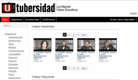 Utubersidad. Más de 10.000 videos educativos gratuitos