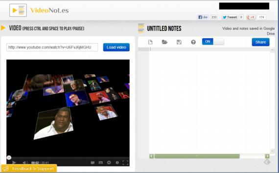 Videonot. Una excelente aplicación para tomar notas mientras miramos un video