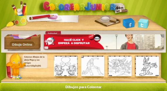 Colorear Junior. Dibujos gratuitos para colorear on-line