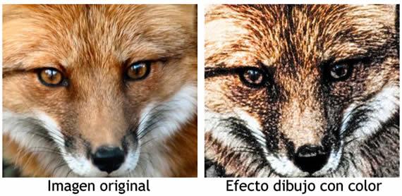 Efecto de dibujo sobre una imagen